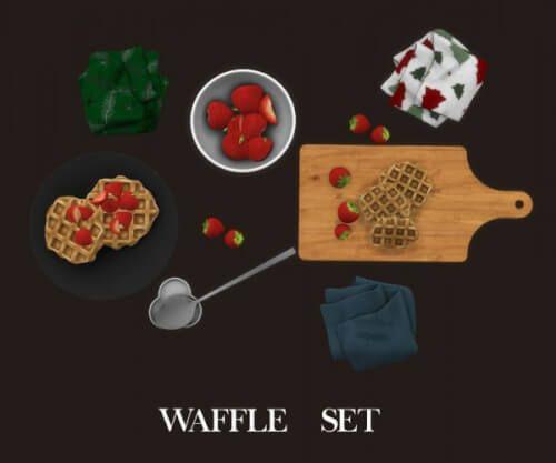 Leo Sims - Waffle Set Decor For The Sims 4