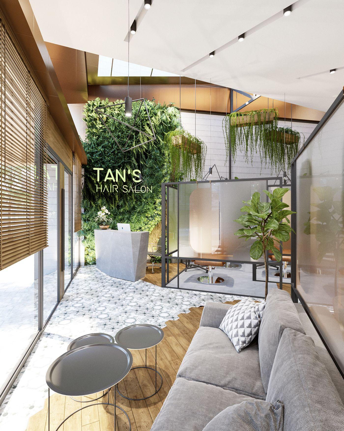 3d Room Interior Design: 3D Interior Scenes File 3dsmax Model Tan's Hair Salon By