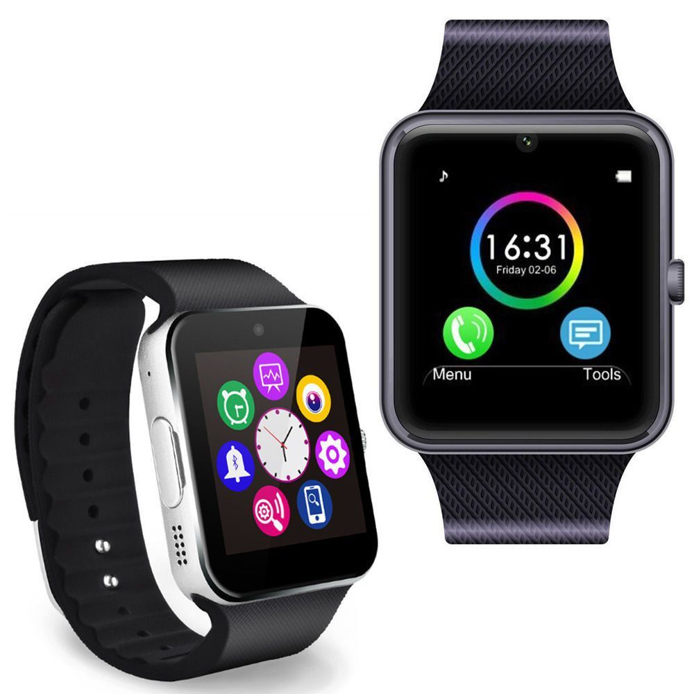 Introductions: The GT08 SIM Card GSM GPRS Smart Watch for iOS & Android Cellphone is a fully functional timepiece with GSM and GPRS functionality. With a rectangular screen, it has a sleek modern watc