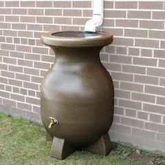 The Canadian Year Round Rain Barrel Hammacher Schlemmer Rain Barrel Water Barrel Backyard