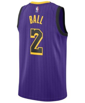 591c1e168 Nike Lonzo Ball Los Angeles Lakers City Edition Swingman Jersey 2018 ...