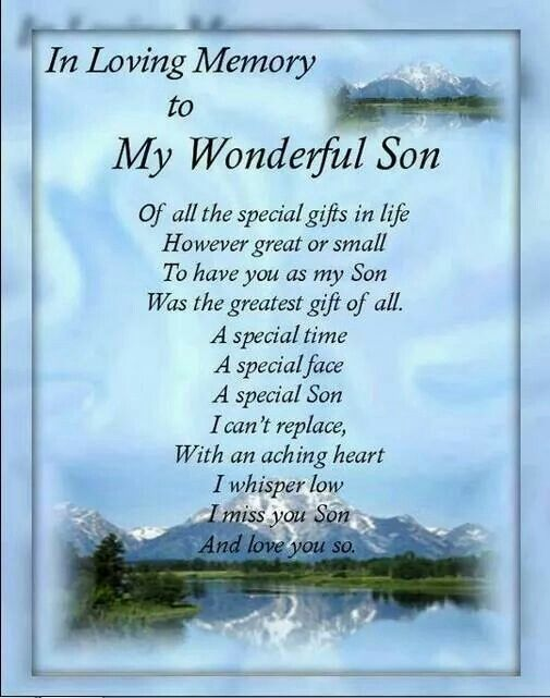 In Loving Memory To My Wonderful Son Wesley Son Poems Son Quotes Birthday In Heaven