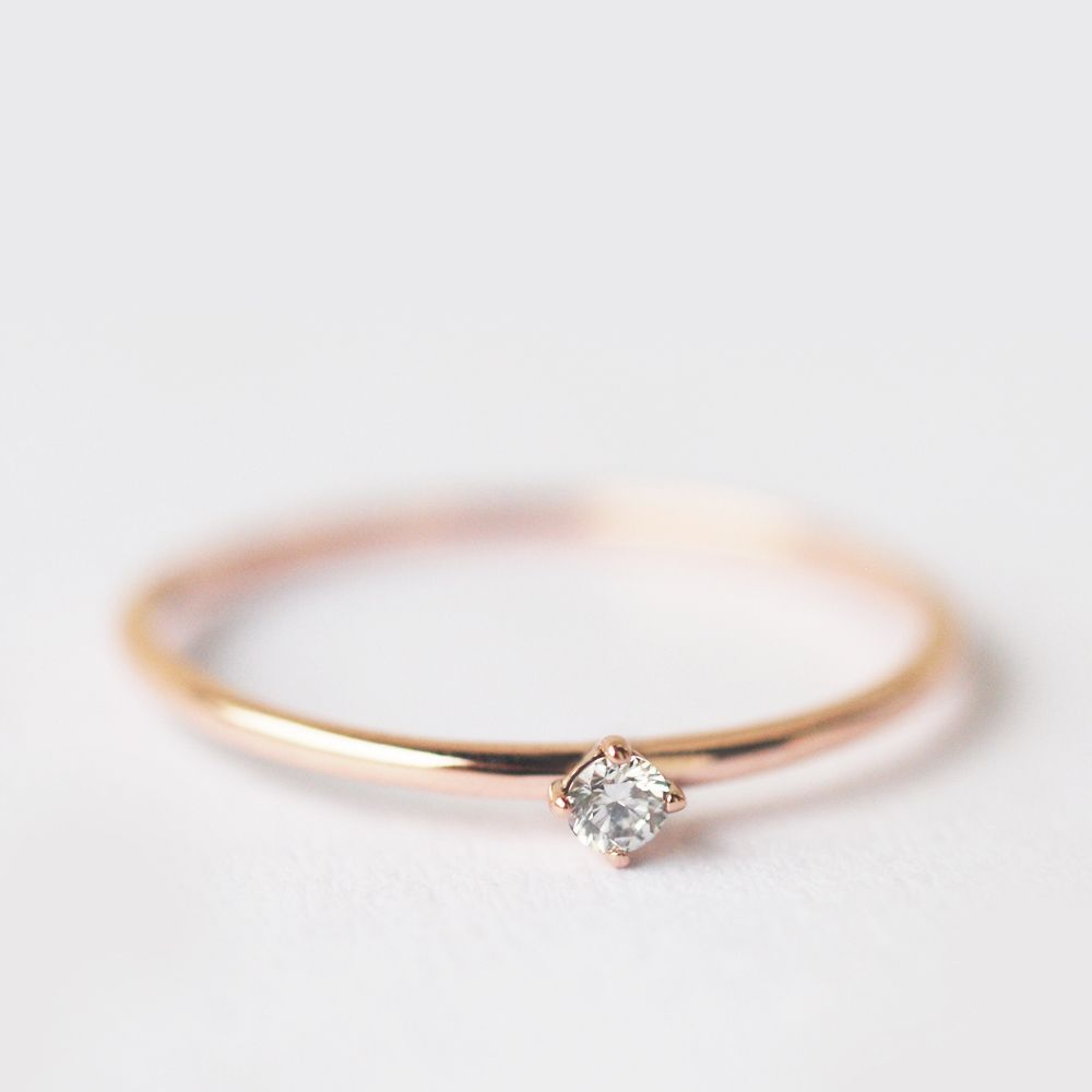 Gift Idea Natural Diamonds 14k Solid White Gold His /& Her Ring Set Engagement Ring April Birthstone Bride and Groom Ring Wedding Gift