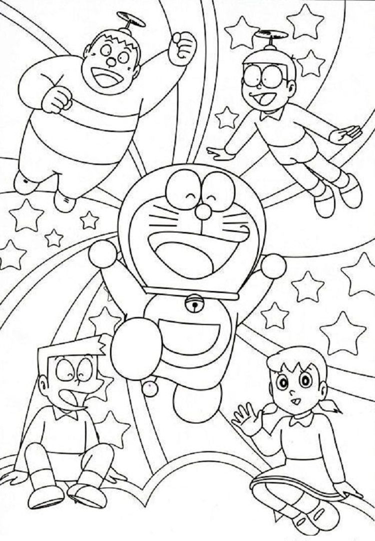 Doraemon Coloring Pages And Friends