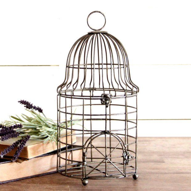 Accent Chair With Cage Bottom: Classic Decorative Bird Cage