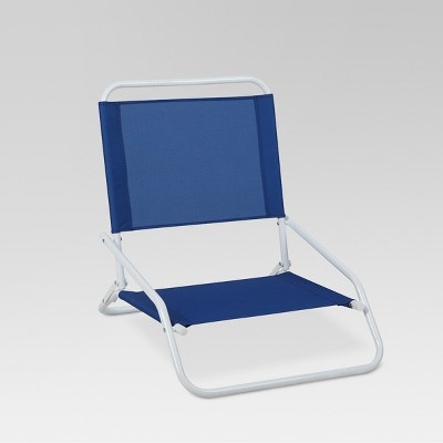 Outdoor Portable Beach Chair - Blue - Evergreen   Products ...