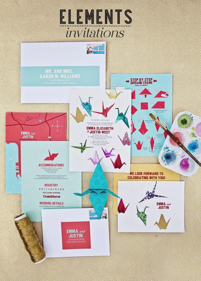 Fabulous Finds Origami Wedding Invitations Wedding Pinterest