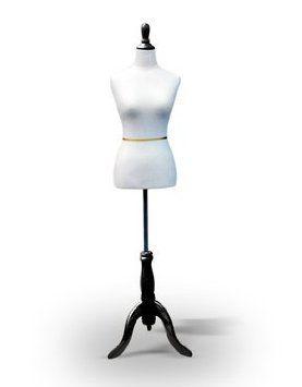 On Black Tripod Stand Adjustable Mannequin Dress Form Black Female Size 2-4 33 24 34