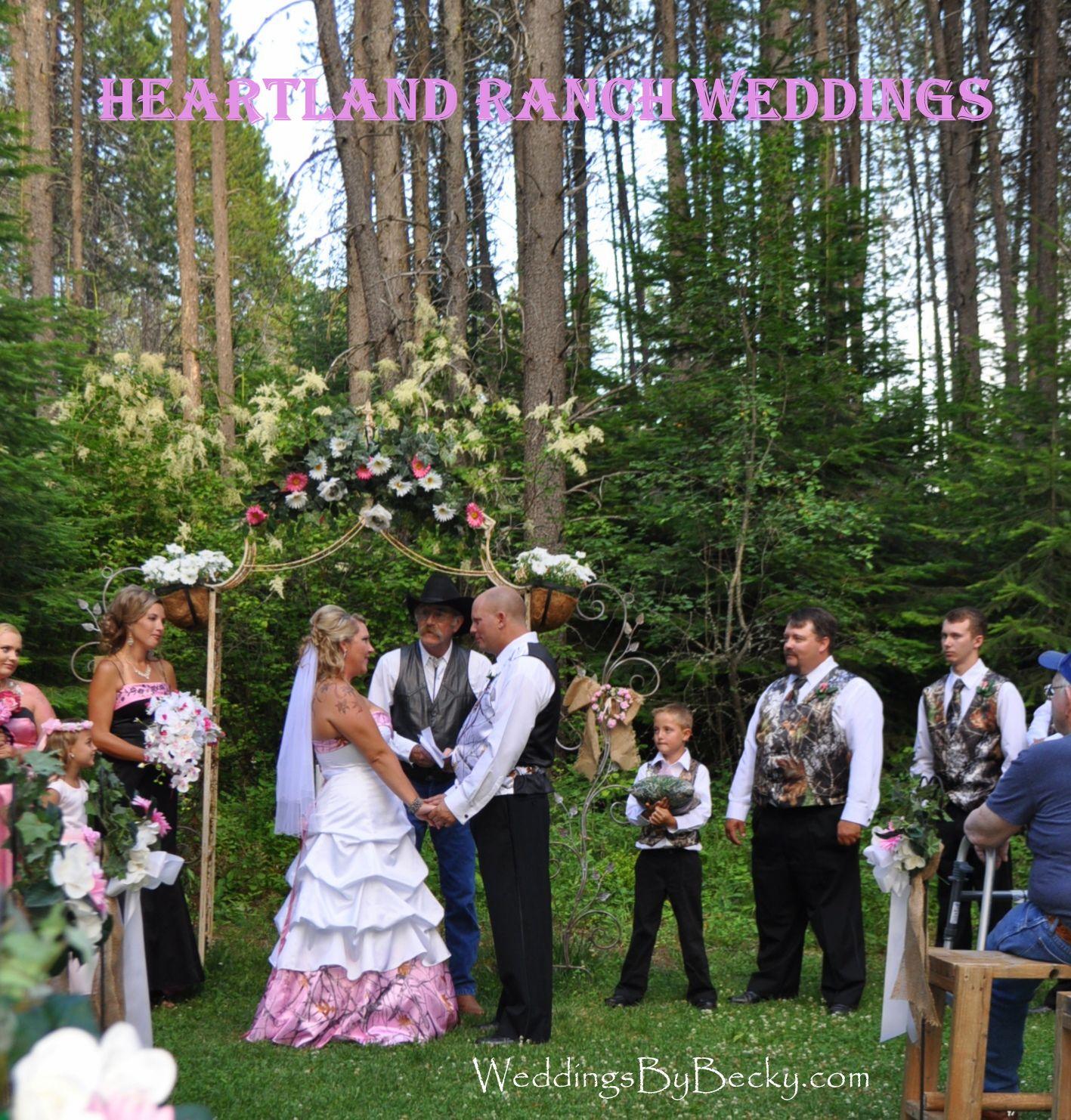 Camo Outdoor Wedding At Heartland Ranch In North Idaho