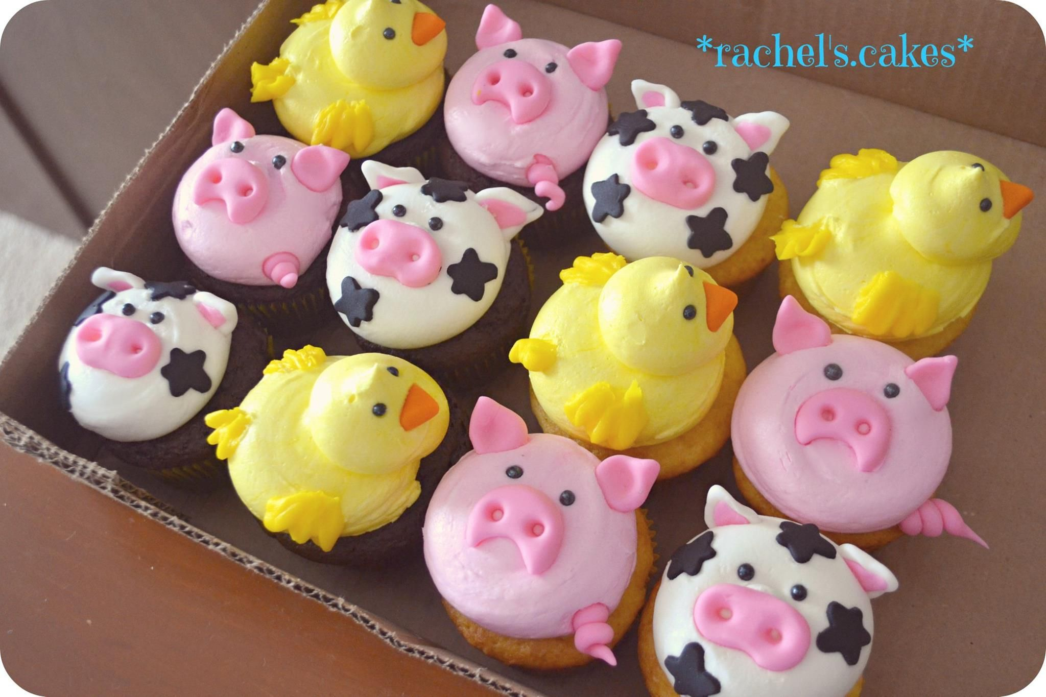 2019 year for lady- Cupcakes animal decorating ideas