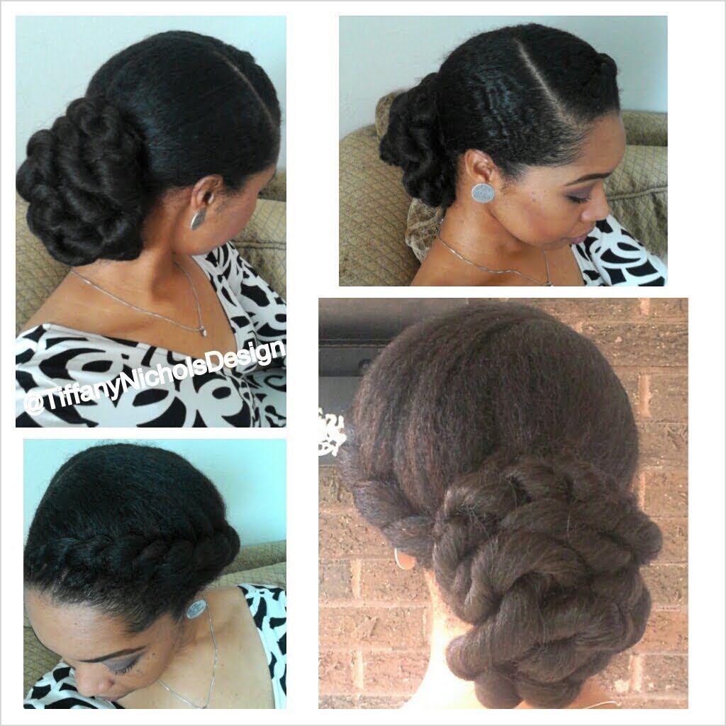 33. natural hair style: elegant twisted bun   natural hair