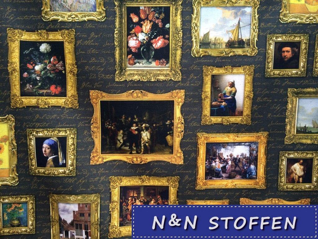Bedrukte Stof Digitale Print Nederlandse Kunst