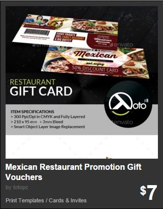 Mexican Restaurant Promotion Gift Vouchers Health Care Gift