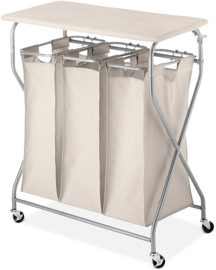 Whitmor Easy Lift Laundry Sorter Ironing Table Laundry Sorter