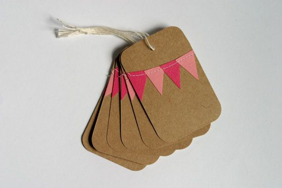 I absolutely love these gift tags, plus the rose and fuchsia with the craft paper brown and natural tones would be gorgeous for a whimsical spring or summer wedding, don't you think?