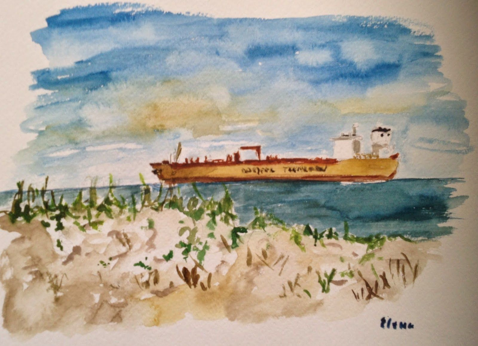 Have Watercolors Will Travel Island Therapy Watercolor Island Art