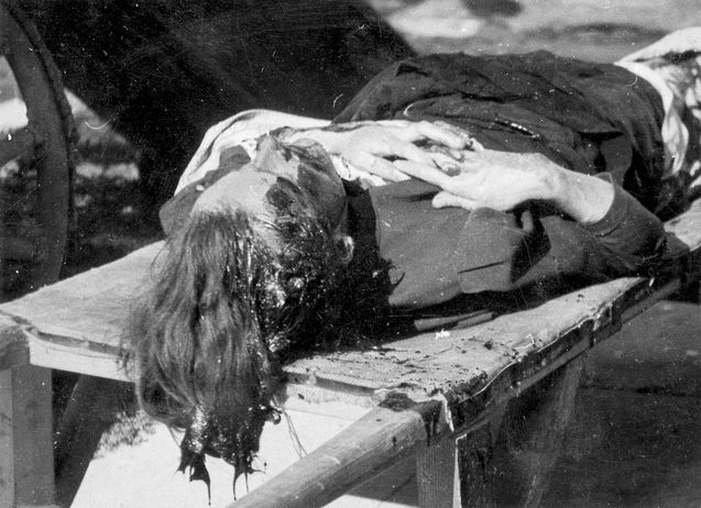 Jewish Woman murdered during deportation. 1942