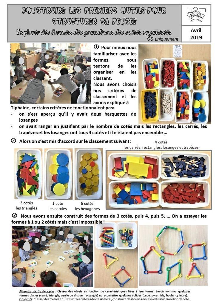 Comprendre Et Classer Des Formes Complexes Gs Lutins De Maternelle Formes Maternelle Jeux Mathematiques