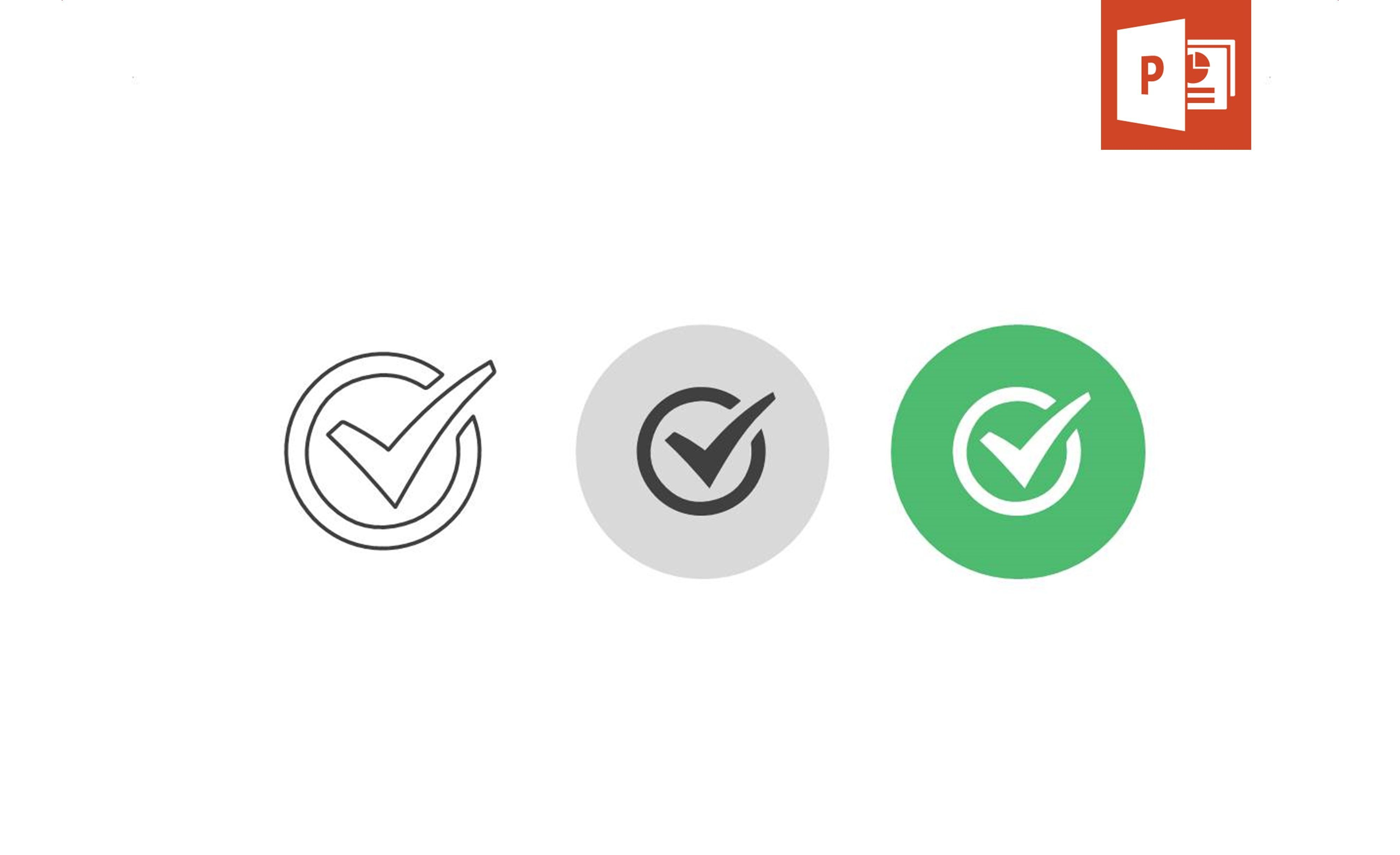 Use our checkmark icon pack to illustrate your presentation