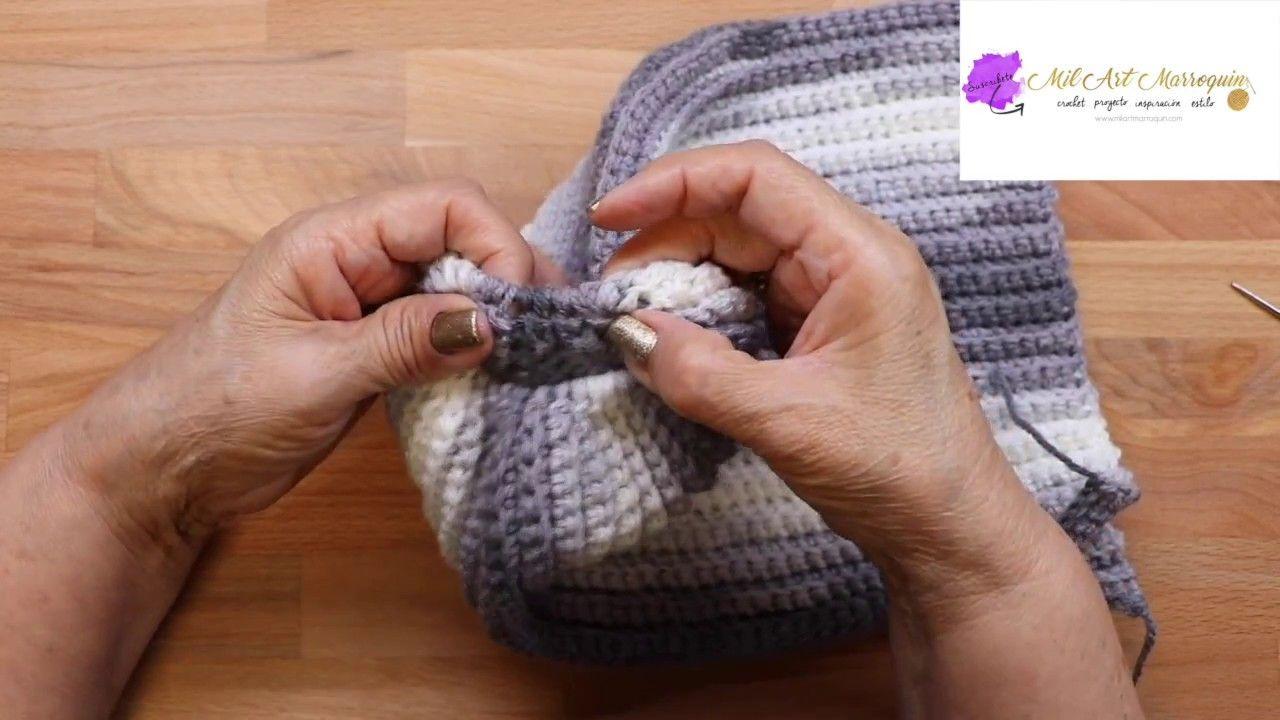 Como Tejer Gorra Cola de Caballo Crochet | Cuellos, bufandas y ...