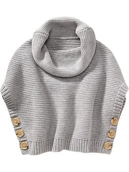 fa05beb09c7 Funnel-Neck Sweater Ponchos for Baby