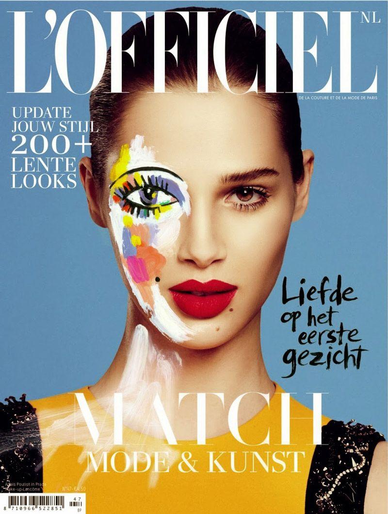 Magazine Cover Fonts Fashion L 39 Officiel Magazines Pinterest Magazine Covers Magazines And