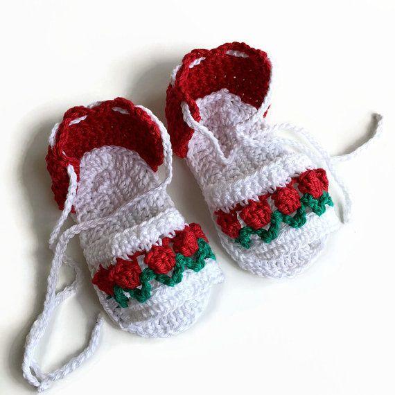 Baby sandals crochet cotton sandals babies booties baby girl sandals ...