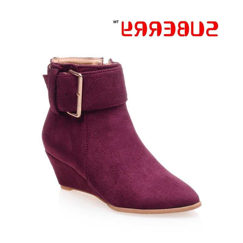 36.21$  Buy now - https://alitems.com/g/1e8d114494b01f4c715516525dc3e8/?i=5&ulp=https%3A%2F%2Fwww.aliexpress.com%2Fitem%2FSUBERRY-New-2016-Hot-Sale-Women-Boots-Buckle-Zipper-Casual-Shoes-PU-Leather-Boots-For-Women%2F32731696670.html - SUBERRY New 2016 Hot Sale Women Boots Buckle Zipper Casual Shoes PU Leather Boots For Women Size 33~43 Style Wedges Ankle Boots