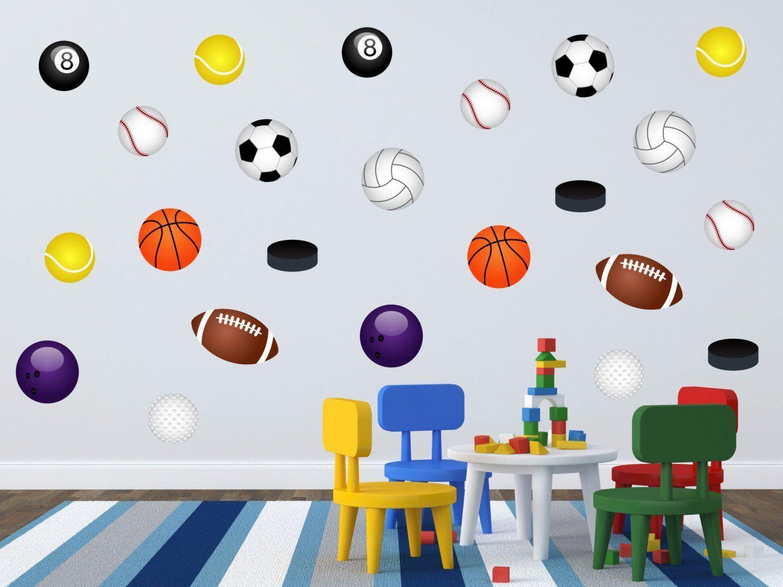 Boys Room Wall Art Sports Wall Decal Sports Wall Art