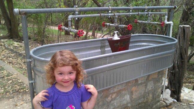 Outdoor Hand Washing Station Looks Familiar Hand Washing Station Camping Hand Washing Station School Garden