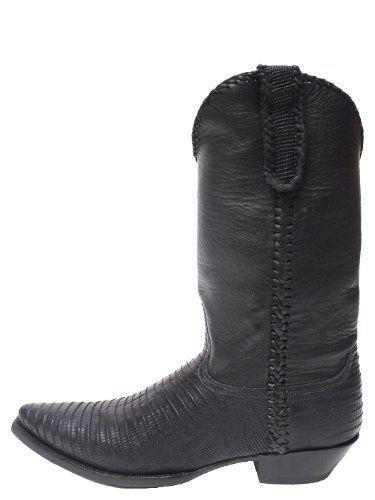 Old Gringo Austin Lizard Black Mens Boots - M365-10