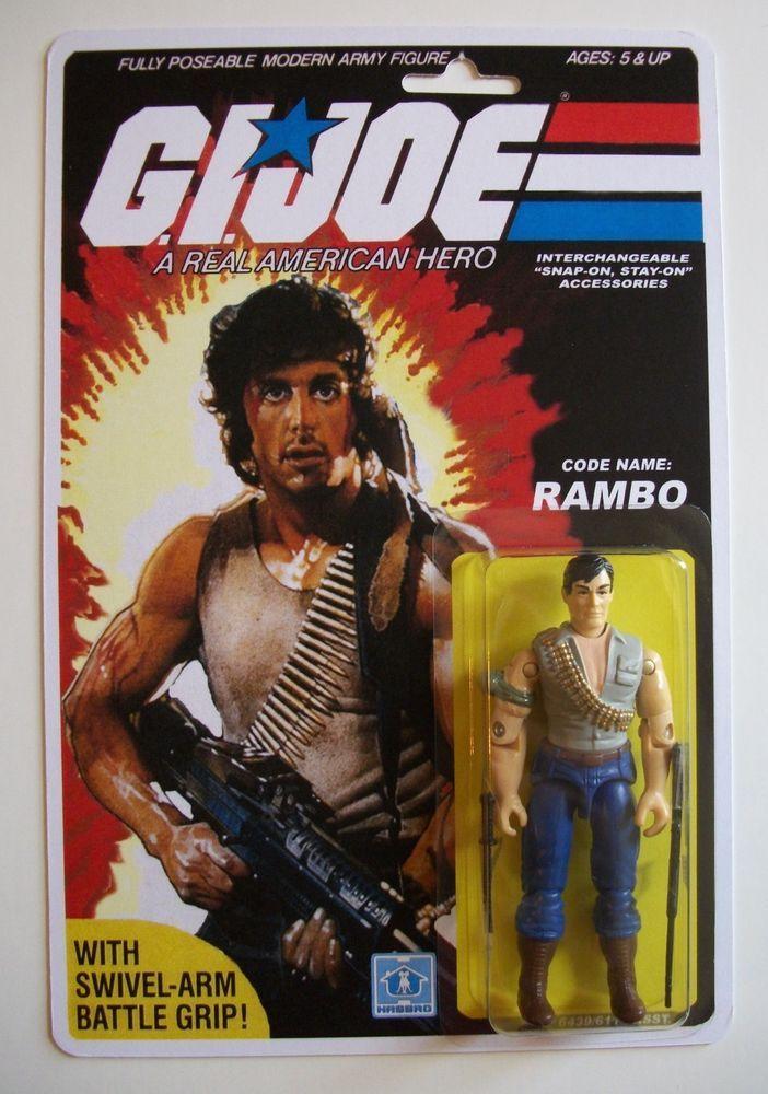 custom made rambo 3 3 4 gi joe vintage style arah action figure moc