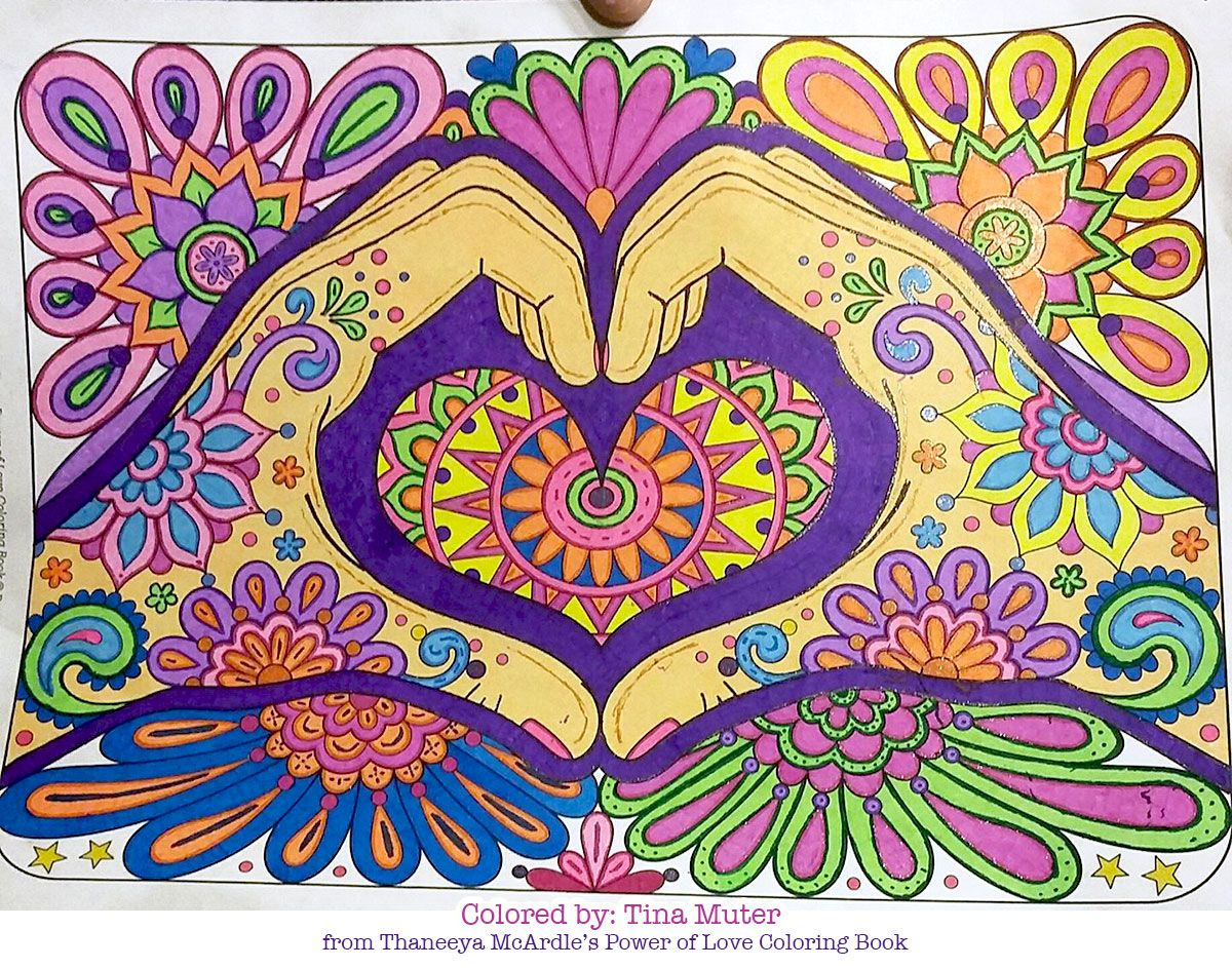 Heart Hands Coloring Page From Thaneeya Mcardle S Power Of Love Coloring Book Coloring Book Art Hippie Art Coloring Books