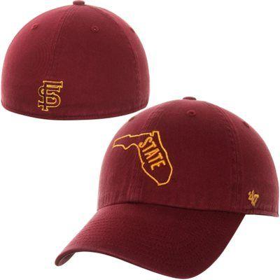 47 Brand Florida State Seminoles (FSU) Franchise Fitted Hat - Garnet ... 8867abd58913