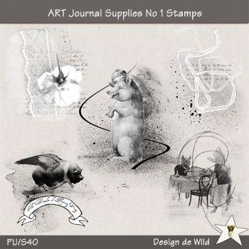 ART Journal Supplies No 1 Stamps