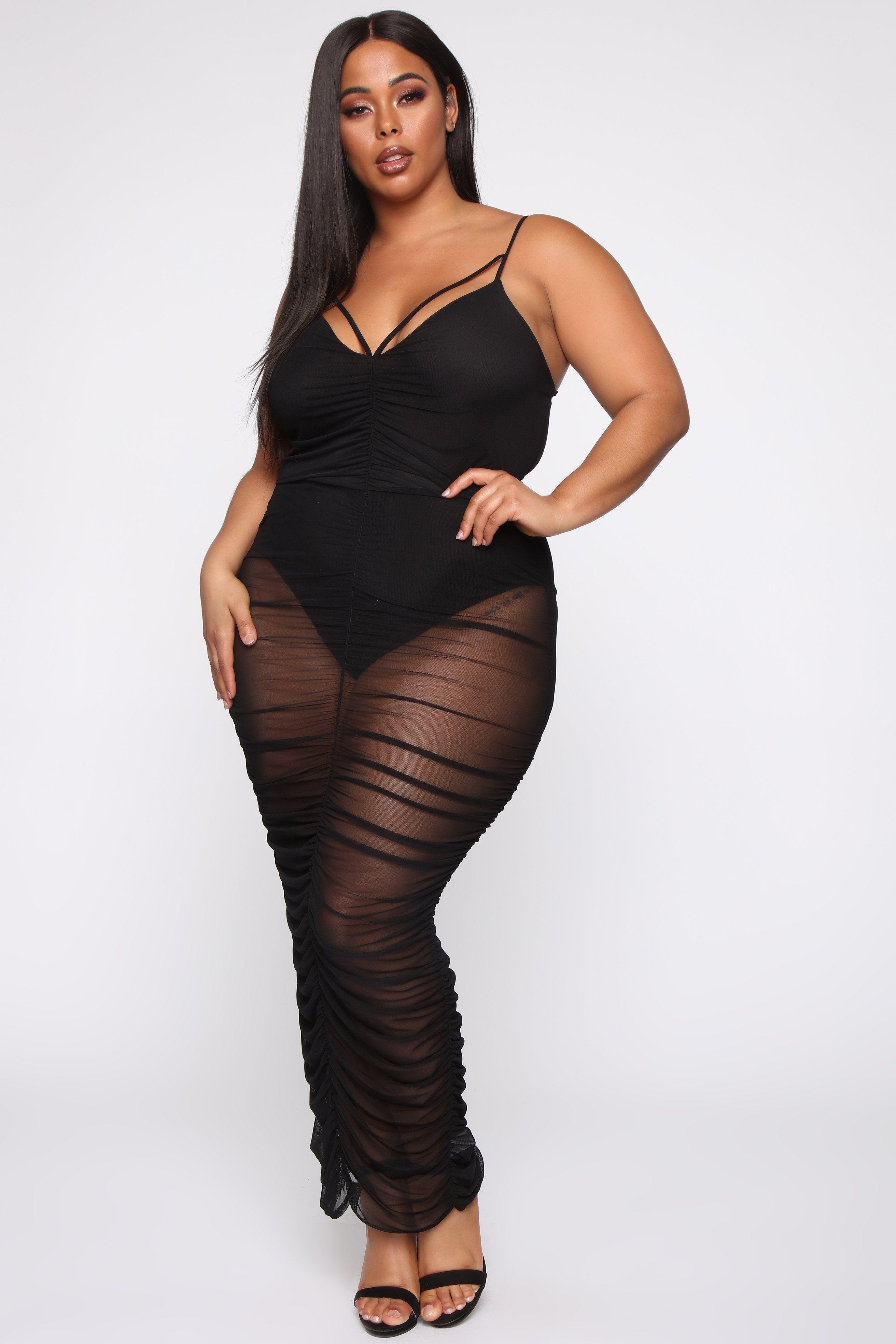 Tabria Majors Fashion nova plus size, Black maxi dress