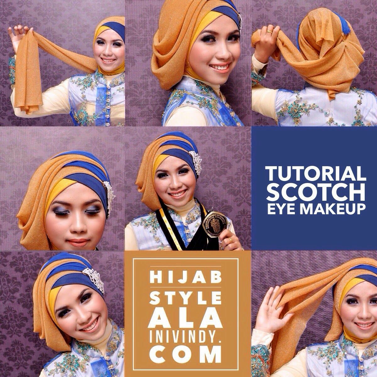 Makeup Natural dan Tutorial Hijab Wisuda Terbaru ala Vindy