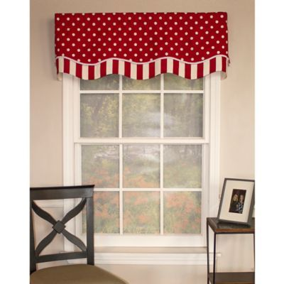 RL Fisher Dotty Glory Window Valance   BedBathandBeyond.com