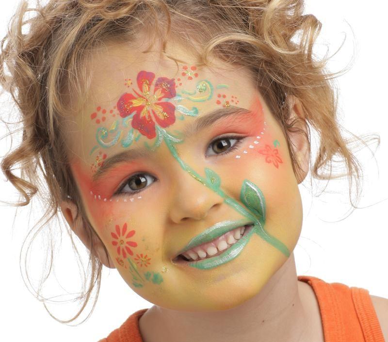 Maquillage fleur des iles voir tapes sur d guisements pinterest fleurs - Maquillage diablesse fillette ...