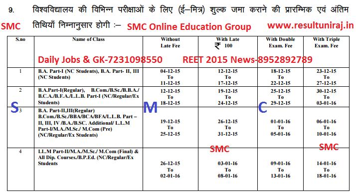 Mgsu Bcom Exam Online Form  Mgsu Bikaner Will Soon Start