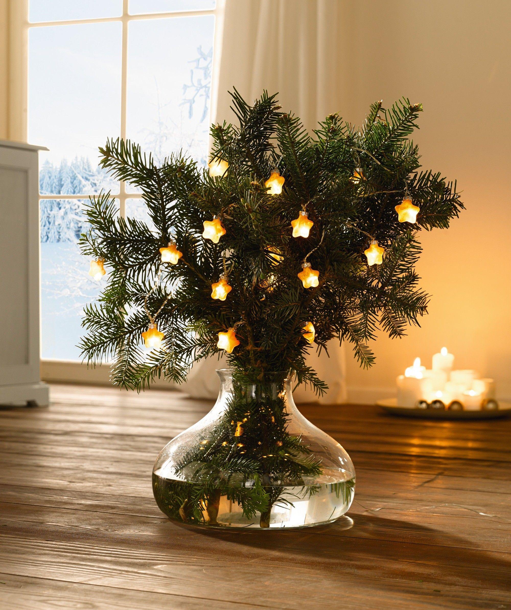 led lichterkette glas bernsteinfarben satiniert weihnachten weihnachtsdeko glas led. Black Bedroom Furniture Sets. Home Design Ideas