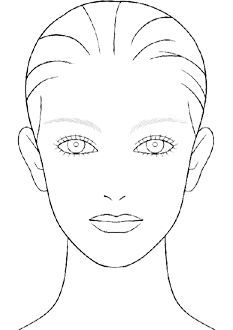 blank makeup face chart template beauty pinterest makeup face