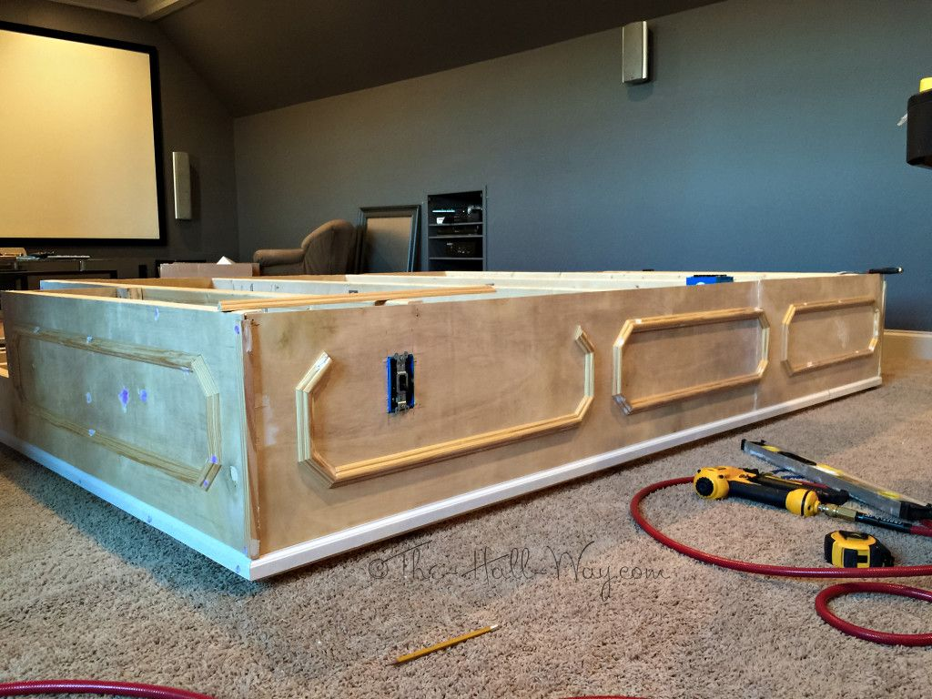 Diy Home Theater Platform Platform Pinterest Men Cave Cave And Basements