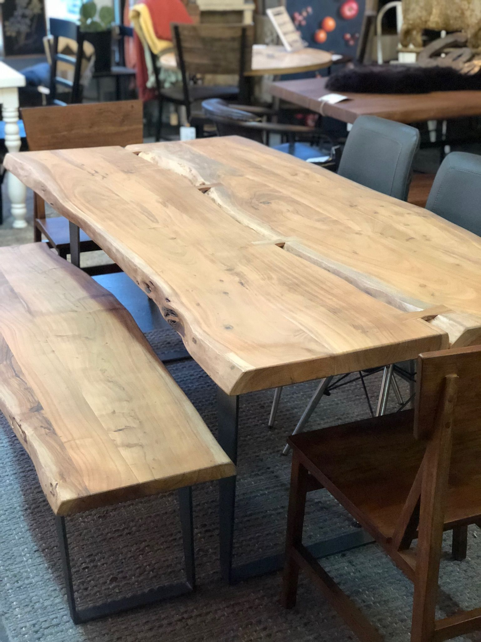 Leviathan Dining Table Live Edge Dining Table Slab Dining
