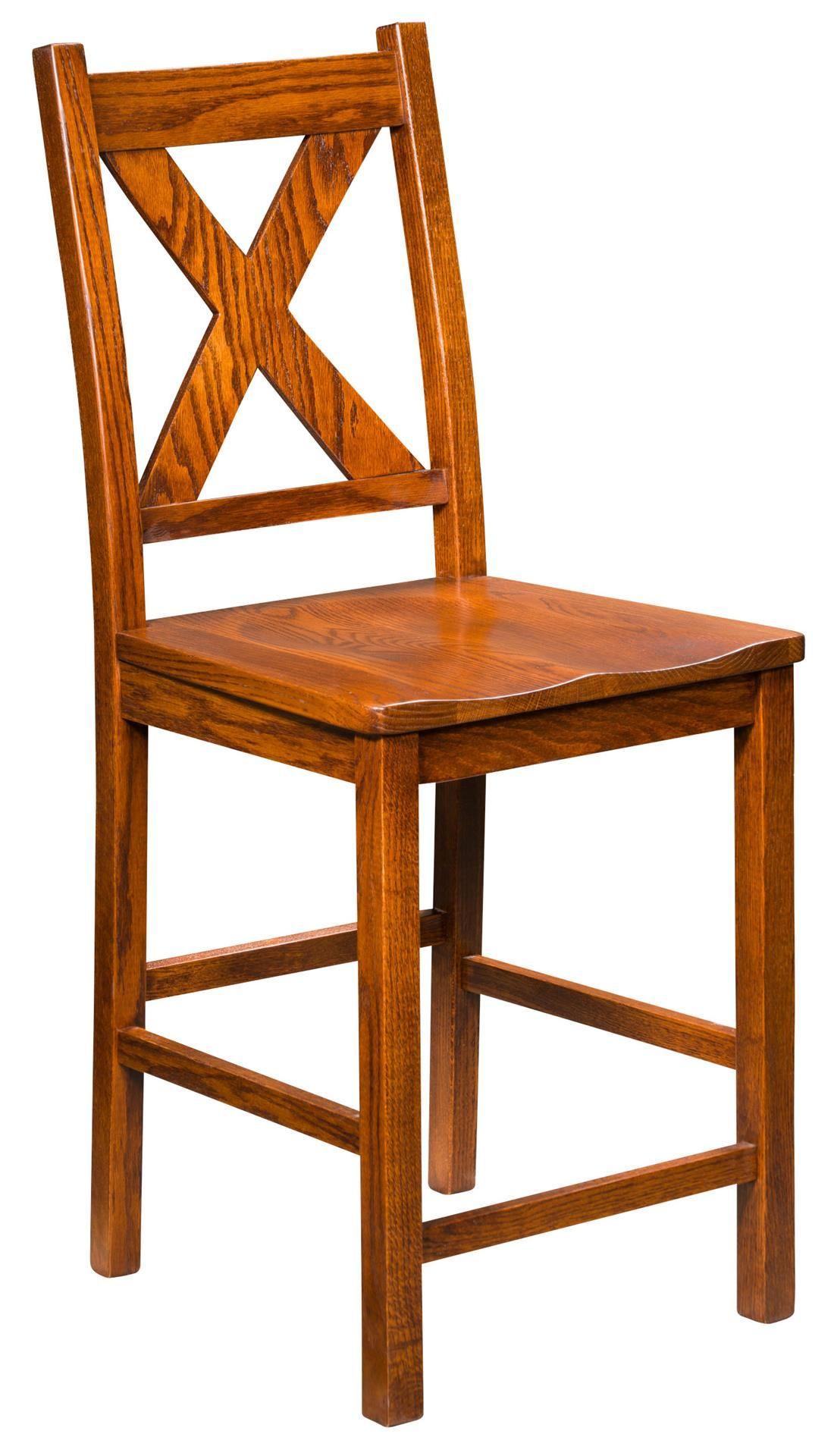 Amish Kenwood Stationary Bar Stool Leather dining room