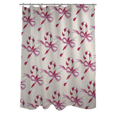 The Holiday Aisle Ledyard Single Shower Curtain Cool Shower