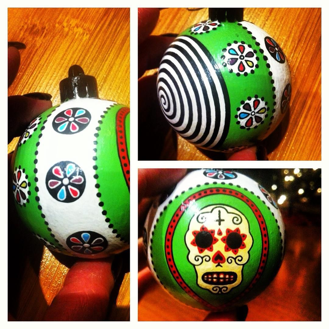Custom Day Of The Dead ornament.