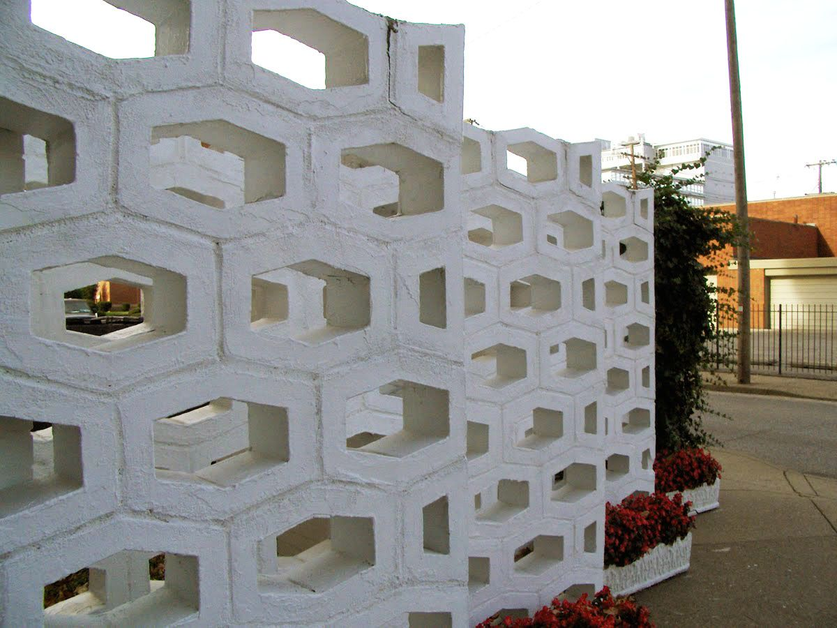 Mid Century Decorative Concrete Screen Block Decorative Concrete