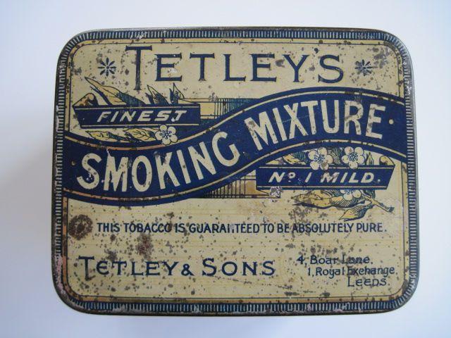 VINTAGE Tetley's Smoking Mixture Tobacco tin