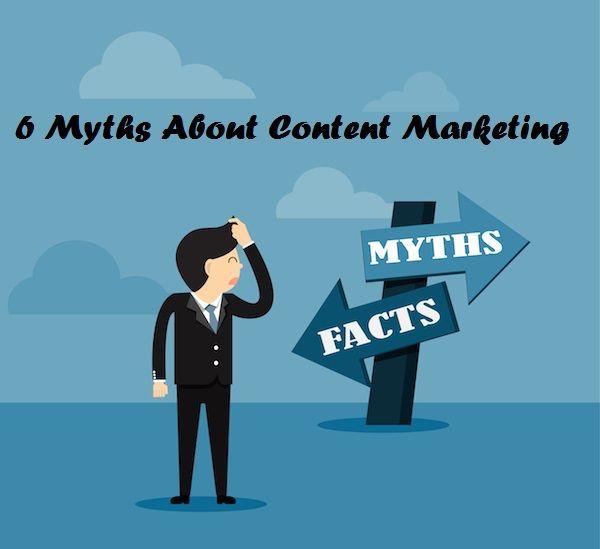 6 myths about content marketing. contentmarketingtool